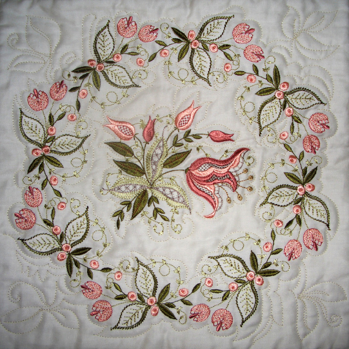 Embroidery Quilt Block Designs : Jacobean Jewels Creative Ideas for Editing Embroidery Designs